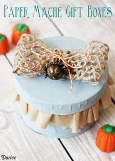 Fall Inspired DIY Gift Box Tutorial @daricecrafts