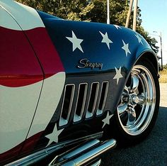 Corvette - Stars and Stripes because I am proud to be American♡...