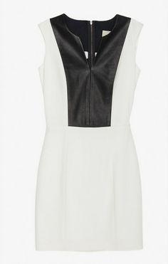 #Mason white & black colorblock dress