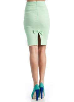 high waist pencil bow skirt $18.40