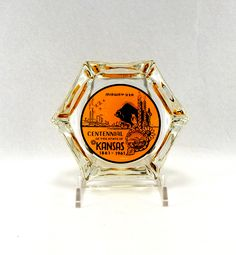 A personal favorite from my Etsy shop https://www.etsy.com/listing/559510271/vintage-ashtray-midway-usa-kansas