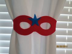 Super Hero Curtain Tiebacks Set of 2 by lilibugcreations on Etsy, $6.50