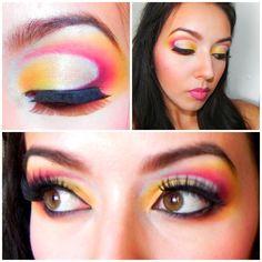 Candente Maquillaje (Artistico: Rojo, anaranjado, amarillo, blanco)
