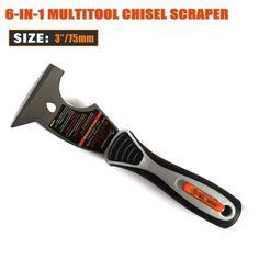 6-in-Đa chức năng Kính Carbon Steel Putty Lưỡi Dao Chống Gỉ Hàng Loạt Dao Cao-đánh bóng Lau Scraper Tool HW112