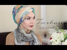 TURBAN TUTORIAL WITH LIBERTY LONDON | OOTD! - YouTube Turban Hijab, Mode Turban, Head Turban, Turban Tutorial, Hijab Style Tutorial, Hijab Simple, Arab Fashion, Fashion Women, African Head Wraps