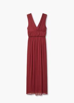 Φόρεμα ντραπέ μακρύ - Φορέματα for Γυναίκα | MANGO ΜΑΝΓΚΟ Ελλάδα