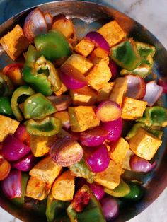 Just marinated homestyle tawa paneer..(cottage cheese)..my moms recipe..fast&easy..but simply delicious!!