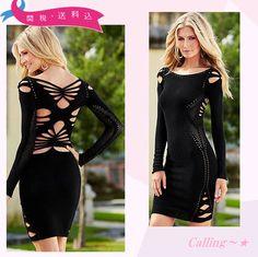 VIP.sale!関税,送料込み★セレブ愛用!VENUS★カットアウトドレス 大胆な背中のカットアウトがセクシーなVENUSのドレスです★体にピッタリとフィットするデザインなので美しく女性らしく魅せてくれます☆♪