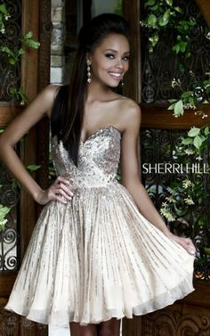 Sherri Hill 8526 Sweetheart Dress Nude