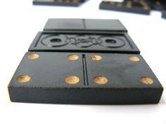 #Vintage set of dominoes, Black Domino, plastic Domino set, Domino pattern, Soviet Vintage, Christmas Board games, 28 black plastic knuckles   Good complete set of vintage D... #etsy #vintage #gift #nostalgishop