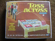 1970S Vintage Toys And Games | Vintage 1970 Toss Across Game with Box and Original Bean Bags | eBay