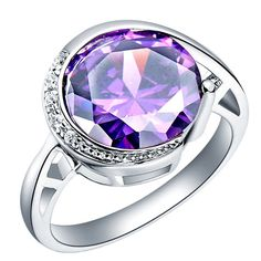 Free Shipping Ring for Woman Purple/Red Rhinestone by EasyBoyStore, $8.90