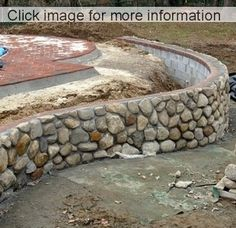 Concrete Block Retaining Wall, Gabion Retaining Wall, Landscaping Retaining Walls, Concrete Blocks, Gabion Stone, Stone Walkways, Concrete Stone, Retaining Wall Construction, River Rock Landscaping