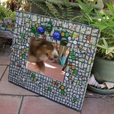 Garden Kaleidoscope Confetti Glass Mosaic Mirror