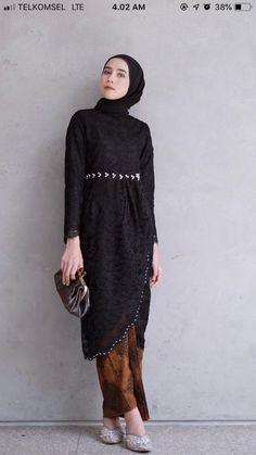 Fashion Hijab Dress Black Ideas - New Ideas Fashion Hijab Dress Black 56 Ideas Fashion Hijab Dress Kebaya Modern Hijab, Dress Brokat Modern, Model Kebaya Modern, Kebaya Hijab, Kebaya Dress, Kebaya Kutu Baru Modern, Model Kebaya Muslim, Kebaya Lace, Hijab Gown