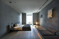 Image 3 of 18 from gallery of Hotel Koe Tokyo / Suppose Design Office. Photograph by Kenta Hasegawa (OFP. Bedroom Retreat, Home Bedroom, Modern Bedroom, Bedrooms, Bedroom Ideas, Office Floor Plan, Quality Hotel, Boutique Interior Design, New Room