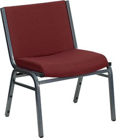 Flash XU-60555-BY-GG - HERCULES Big and Tall 1000 lb Extra Wide Burgundy Fabric Stack Chair Sale Price: $62.50