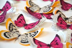 3D decorative paper butterflies wall decoration paper butterflies embellishments - pinned by pin4etsy.com