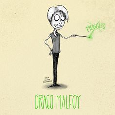 Tim Burton style Harry Potter characters: Draco Malfoy