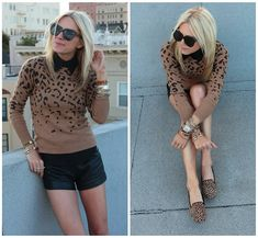 Collar and Leopard Sweater