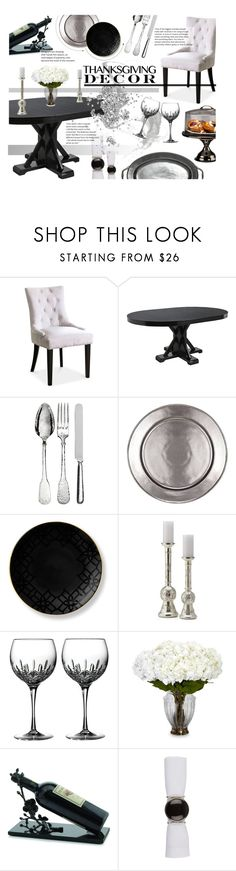 """Thanksgiving Decor -  Dinning table!"" by nvoyce ❤ liked on Polyvore featuring interior, interiors, interior design, home, home decor, interior decorating, Pier 1 Imports, Pampaloni, Juliska and B by Brandie"
