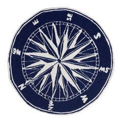 Frontporch Compass Navy Rug