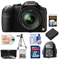 Panasonic Lumix DMC-FZ200 Digital Camera (Black) with 32GB Card + Backpack Case + Battery + 3 UV/CPL/ND8 Filters + Tripod + Accessory Kit  http://www.lookatcamera.com/panasonic-lumix-dmc-fz200-digital-camera-black-with-32gb-card-backpack-case-battery-3-uvcplnd8-filters-tripod-accessory-kit-2/