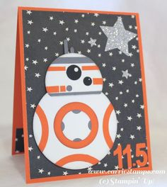 Star Wars - The Force Awakens droid BB8 punch art card                                                                                                                                                                                 More