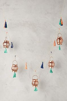 Skylark Lantern Collection - anthropologie.com --- cute for a boy with the teal/orange puffins!