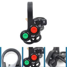 Motorcycle Electric Bike/Scooter Light Turn Signal&Horn Switch ON/OFF Button W/Red Green Buttons 22mm Dia Handlebars E#A