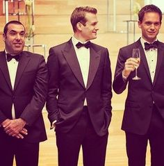 Louis Litt, Harvey Specter & Mike Ross <3 Obsessed with Suits.  need the new season to start NOW.