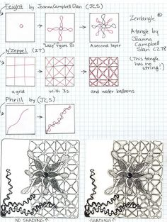Zentangle Patterns Step By Step So today i have another step