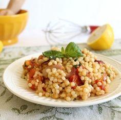 Israeli Couscous Greek Salad HealthyAperture.com