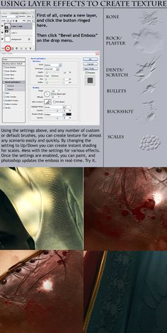 Tutorial - Embossing Texture by Kharnage.deviantart.com on @deviantART