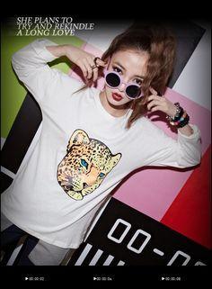 CUZIO 的豹頭老虎頭白色寬鬆棉質T恤 | CliPick 專屬妳的網購精選輯 我是豹不是虎:http://www.clipick.com/item?sid=114903