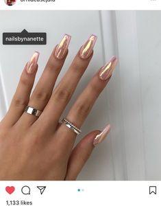 Long coffin nails, ballerina nails, chrome nails, festival nails, Coachella nails