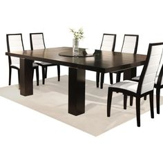 Jordan Square Extension Dining Table - Wenge - Kitchen & Dining Room Tables at Hayneedle
