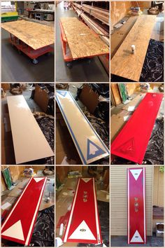 Homemade 49ers beer pong table