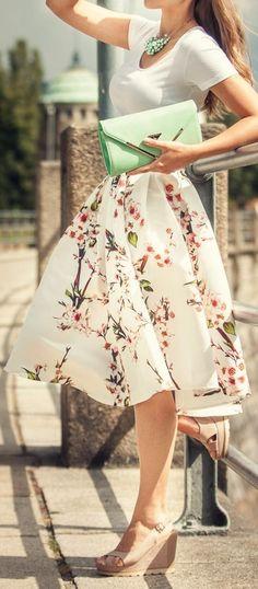 Blossom midi skirt