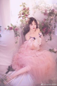Set Fashion, Lolita Fashion, Pretty Dresses, Beautiful Dresses, Princess Aesthetic, Cute Korean Girl, Fantasy Dress, Beautiful Asian Girls, Ulzzang Girl