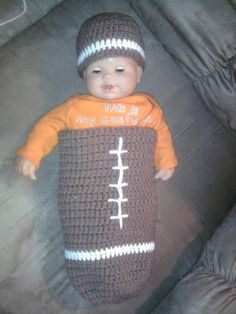 crochet baby bunting   Topic: Football Bunting! (Read 2423 times)