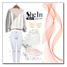 """SHEIN"" by woman-1979 ❤ liked on Polyvore featuring Mansur Gavriel, adidas Originals and Quay"