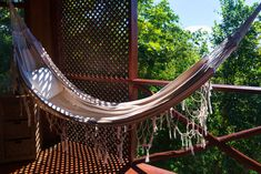 Nothing says 'Caribbean Vacation' like a hammock with a sea view. Caribbean Vacations, Caribbean Sea, Wooden Cottage, Sustainable Tourism, West Indies, Portsmouth, Treehouse, Hammock, National Parks