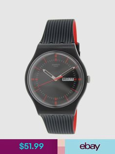 a0ea2b41f90a This plastic watch features a black dial that perfectly pairs with a  reliable swiss quartz movement. Worn with a black silicone strap and buckle  clasp