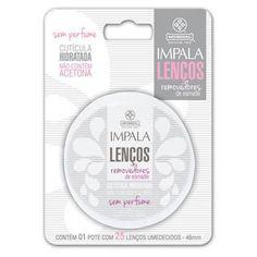 Lenços removedores de esmalte sem perfume Impala - Veja a resenha do produto no nosso site. #ficadica #dicadeproduto #produtotop #brandlovers #beauty #beautyblender #tendência #sucesso  #impala