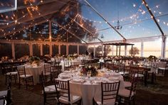 Cleartop Tent by US Tent Rental at the Crosley Mansion. Wedding by NK Productions.