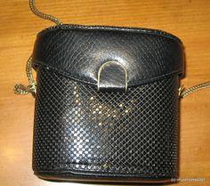 Vintage Black Whiting & Davis Sequin Bead Evening Bag Purse #WhitingandDavis #Box