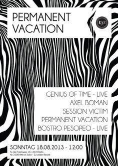 Permanent Vacation feat. Genius Of Time | Else | Berlin | https://beatguide.me/berlin/event/else-permanent-vacation-20130818/poster/