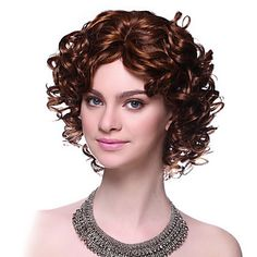 Capless Top Grade Synthetic Short Curly Blonde Hair Wigs – USD $ 34.99