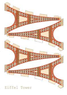 Molde de la torre Eiffel para imprimir y armar (2)